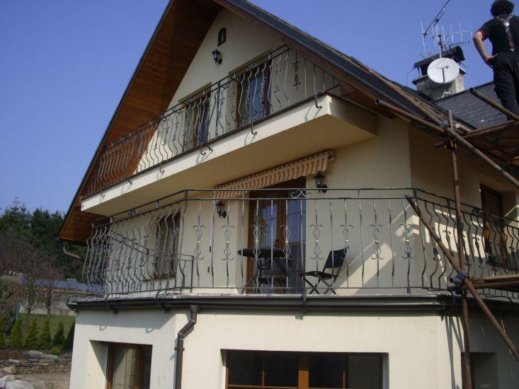 Kované balkónové zábradlí, schodišťové zábradlí, terasové